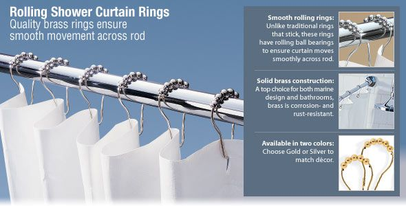 Rolling Shower Curtain Rings