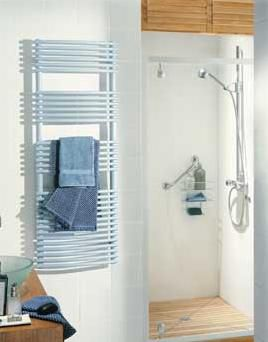 Runtal Solea Hydronic Towel Radiator with Custom Colors