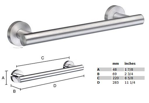 Home 11 1/4 inch Grab Bar - STAINLESS STEEL BRUSHED