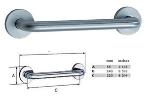 Loft 11 inch Grab Bar - STAINLESS STEEL BRUSHED CHROME