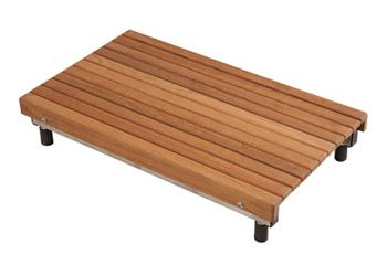 Teak ADA Removable Seat for Bathtubs - 27 In L x 16 In D x 1 1/4 In H