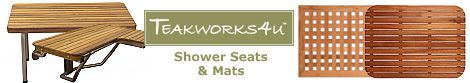 TEAKWORKS4U Teak Shower Seats and Bath/Shower Mats